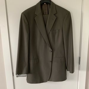 Brooks Brothers gray suit